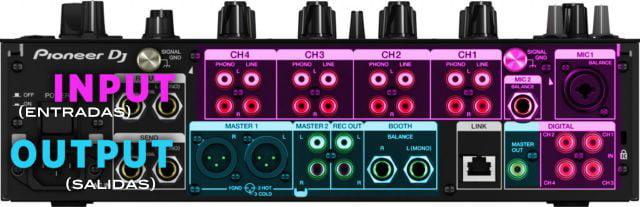 conexiones mesa de mezclas DJ