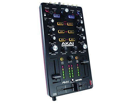AKAI Professional AMX - Controlador MIDI USB y mezclador para DJ de 2 canales con opción DVS, incluye Serato DJ