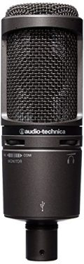 Audio-Technica AT2020USB - Micrófono (Studio, 20 - 20000 Hz, Cardioid, Alámbrico, 3,1m, 374g) Negro