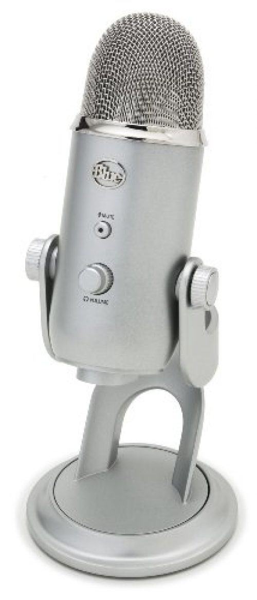 Blue Microphones Yeti - Micrófono para ordenador (USB, 16-bit, 48 KHz, 16 ohms, 20 Hz - 20 kHz), color plateado