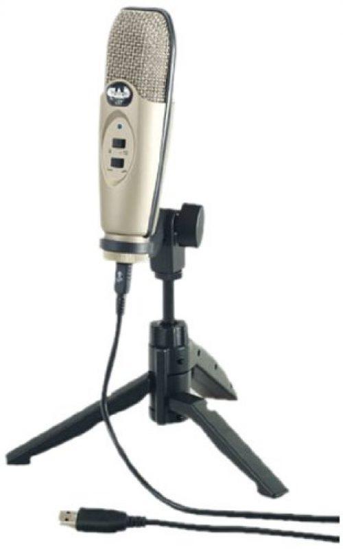 CAD U37 - Micrófono de condensador (de estudio, conector USB), color plateado